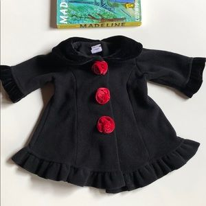 Starting Out | Chic Black Fleece Coat | 3 Months
